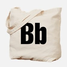 B Helvetica Alphabet Tote Bag