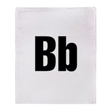 B Helvetica Alphabet Throw Blanket