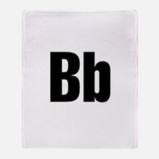 B Helvetica Alphabet Throw Blanket