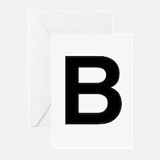 B Helvetica Alphabet Greeting Cards (Pk of 20)