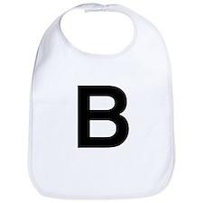 B Helvetica Alphabet Bib