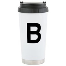 B Helvetica Alphabet Travel Mug