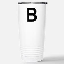 B Helvetica Alphabet Travel Mug