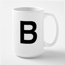 B Helvetica Alphabet Large Mug