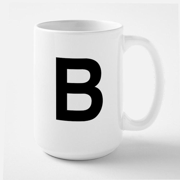 B Helvetica Alphabet Mug