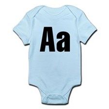 A Helvetica Alphabet Infant Bodysuit