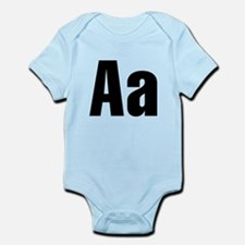 A Helvetica Alphabet Infant Bodysuit