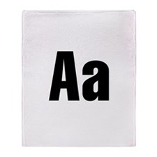 A Helvetica Alphabet Throw Blanket