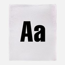 A Helvetica Alphabet Throw Blanket