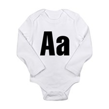 A Helvetica Alphabet Long Sleeve Infant Bodysuit