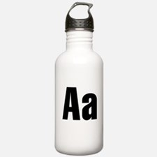 A Helvetica Alphabet Water Bottle