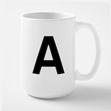 A Helvetica Alphabet Large Mug