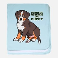 Sitting Bernese Mountain Dog baby blanket