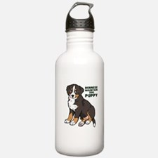 Sitting Bernese Mountain Dog Water Bottle