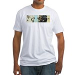 Buddha Baby = Wise Child on Fitted T-Shirt