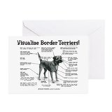 Border terrier Greeting Cards (10 Pack)