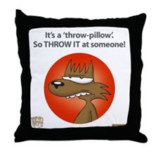 Rabid Woof Throw Pillow