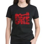 The Uke Red Women's Dark T-Shirt