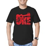 The Uke Red Men's Fitted T-Shirt (dark)