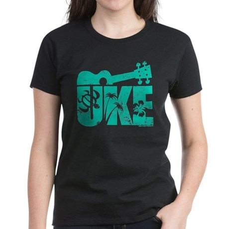 The Uke Seafoam Women's Dark T-Shirt