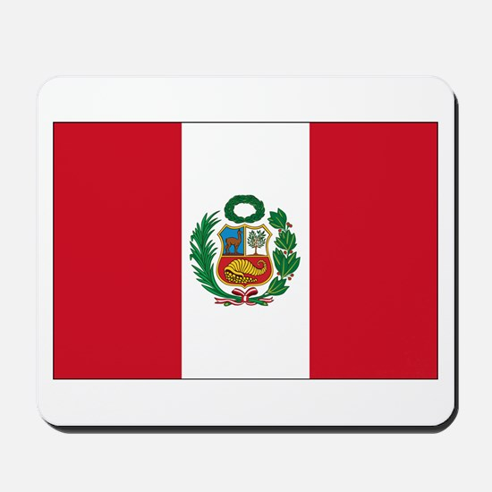 Peru Flag Mousepad