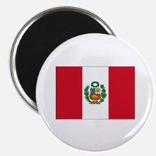 "Peru Flag 2.25"" Magnet (10 pack)"