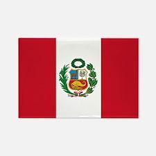 Peru Flag Rectangle Magnet