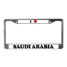 I Love Saudi Arabia License Plate Frame