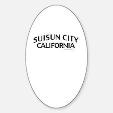 Suisun City Sticker (Oval)
