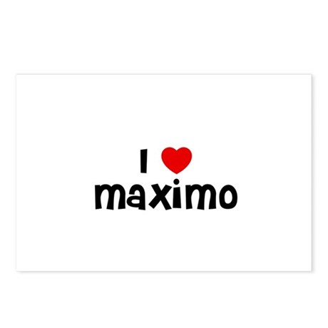 I * Maximo Postcards (Package of 8)