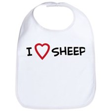 I Love Sheep Bib