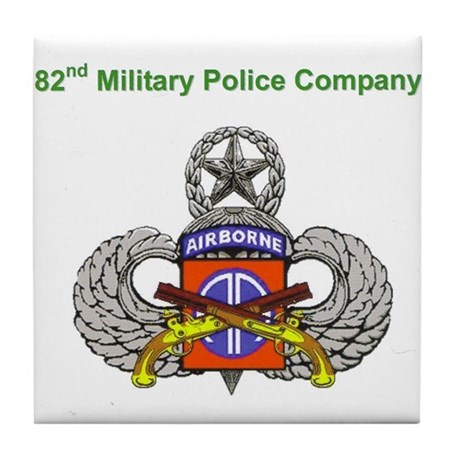 82nd MP Company Tile Coaster