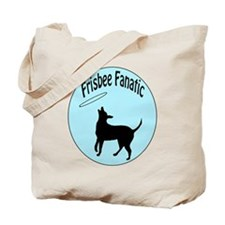 Frisbee Dog Fanatic Tote Bag