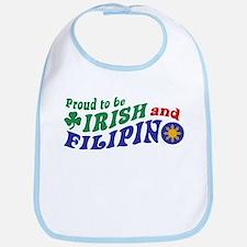 Proud to be Irish and Filipino Bib