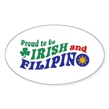 Proud to be Irish and Filipino Decal