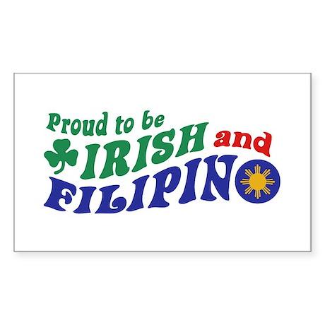 Proud to be Irish and Filipino Sticker (Rectangle)