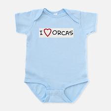 I Love Orcas Infant Creeper
