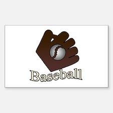 Baseball Sticker (Rectangle)