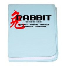 Year of The Rabbit baby blanket