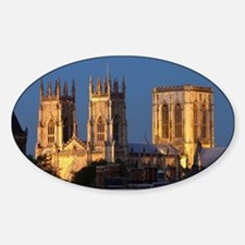 Cute York cathedral Sticker (Oval)