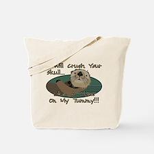 Otter Skull Crush Tote Bag