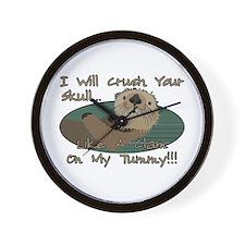 Otter Skull Crush Wall Clock