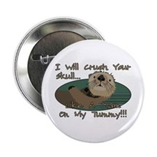 "Otter Skull Crush 2.25"" Button"