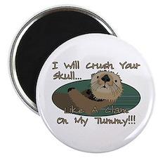 Otter Skull Crush Magnet