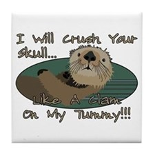 Otter Skull Crush Tile Coaster