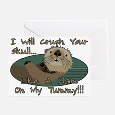 Otter Skull Crush Greeting Card