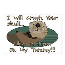 Otter Skull Crush Postcards (Package of 8)