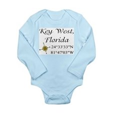 Geocaching Key West, Florida Long Sleeve Infant Bo