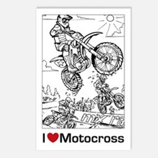 I love Motocross gifts Postcards (Package of 8)