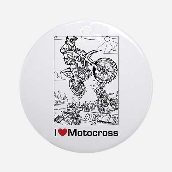 I love Motocross gifts Ornament (Round)